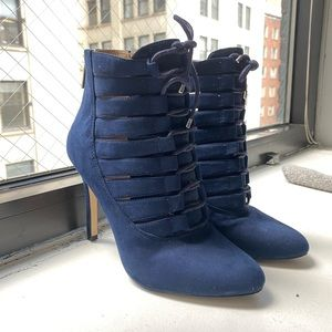 BCBG Booties Navy Blue Suede
